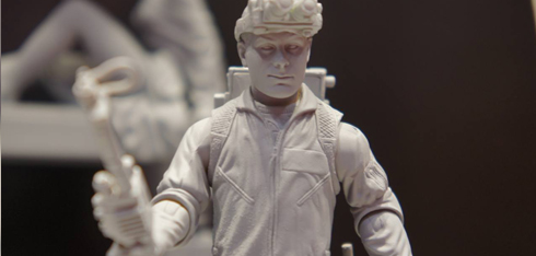 High quality shots of Mattel's Rookie figure + 12″ Ray Stantz new head