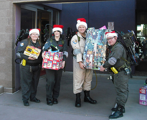AZ Ghostbusters bring holiday cheer to Phoenix Children's Hospital