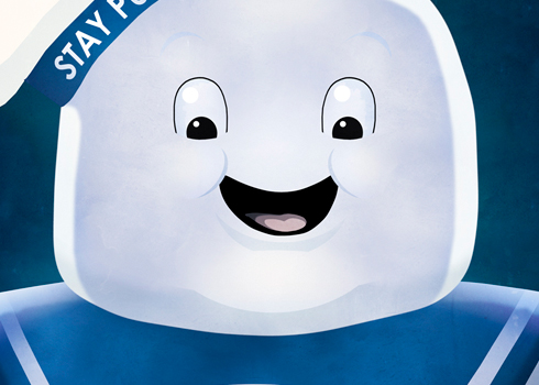 Angry and Happy Stay Puft Posters