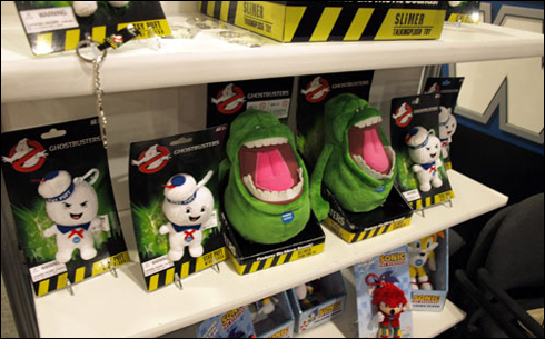 New Slimer & Stay Puft plushies shown at NY Toy Fair