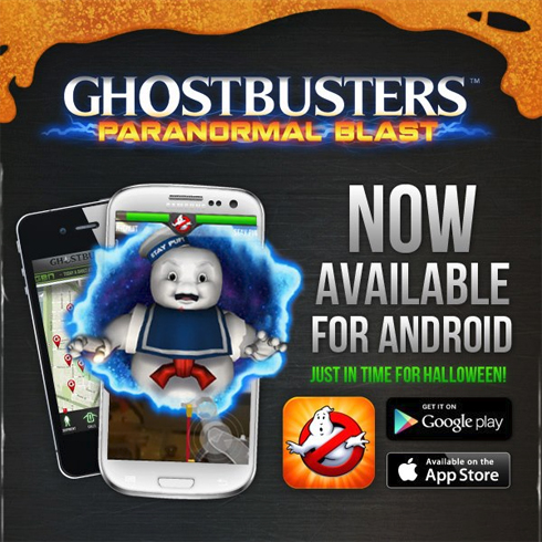 Ghostbusters Paranormal Blast is now available on Android