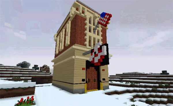 Ghostbusters firehouse gets remade in Minecraft