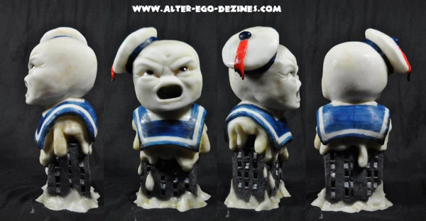 Custom Stay Puft sculpture