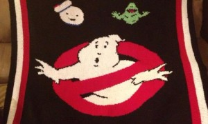 Ghostbusters afghan. Thanks to Evan Botkin for sending this in.