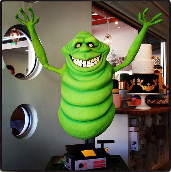 Slimer cake is a thing of beauty