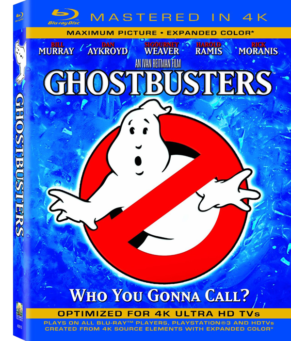 "GHOSTBUSTERS GETS ""MASTERED IN 4K"" FOR BLU-RAY RELEASE"