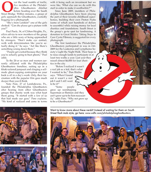 Philadelphia Ghostbusters in Fourteenth Street Magazine