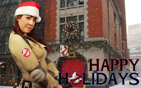 Countdown to Christmas with the Sexy Ghostbuster Calendar: Day #1