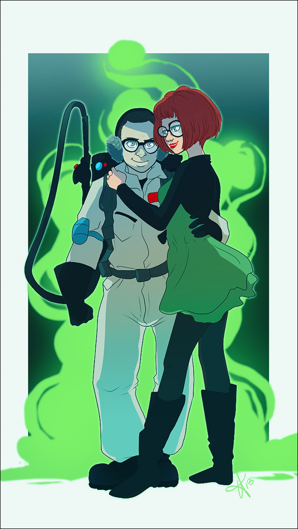 Fan Art: Louis Tully & Janine Melnitz from Ghostbusters 2