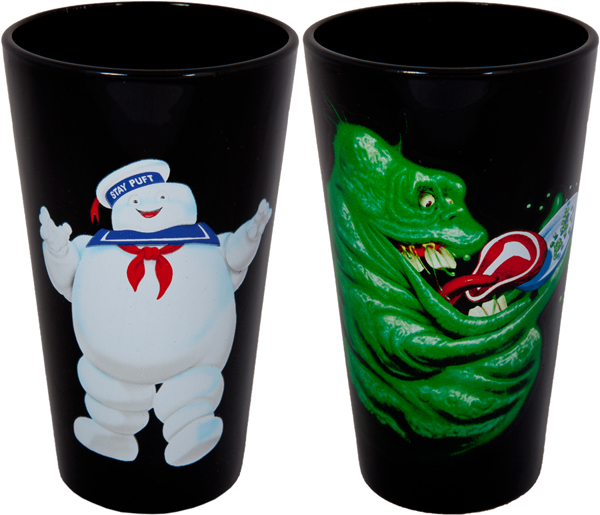 New Ghostbusters glass set available on 80sTees.com