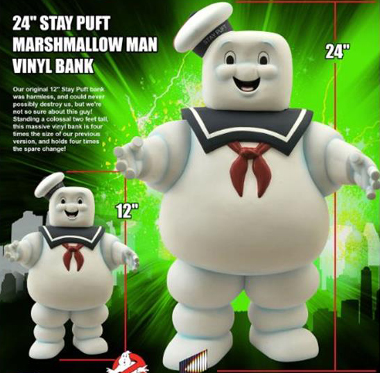 Diamond Select Toys preview new 24″ Stay Puft Marshmallow Man Vinyl Bank