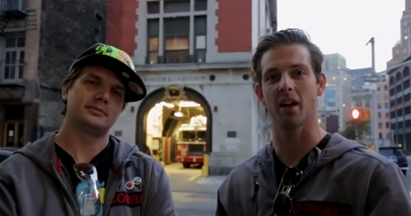 Todd Whalen's Ghostbusters Location Tour + USA vs. Canada Push Up Contest