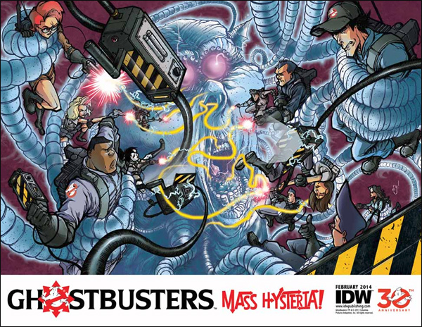 "IDW Writer Erik Burnham reveals more info about upcoming ""Mass Hysteria!"" series, X-Files crossover and ANOTHER Extreme Ghostbuster returning"