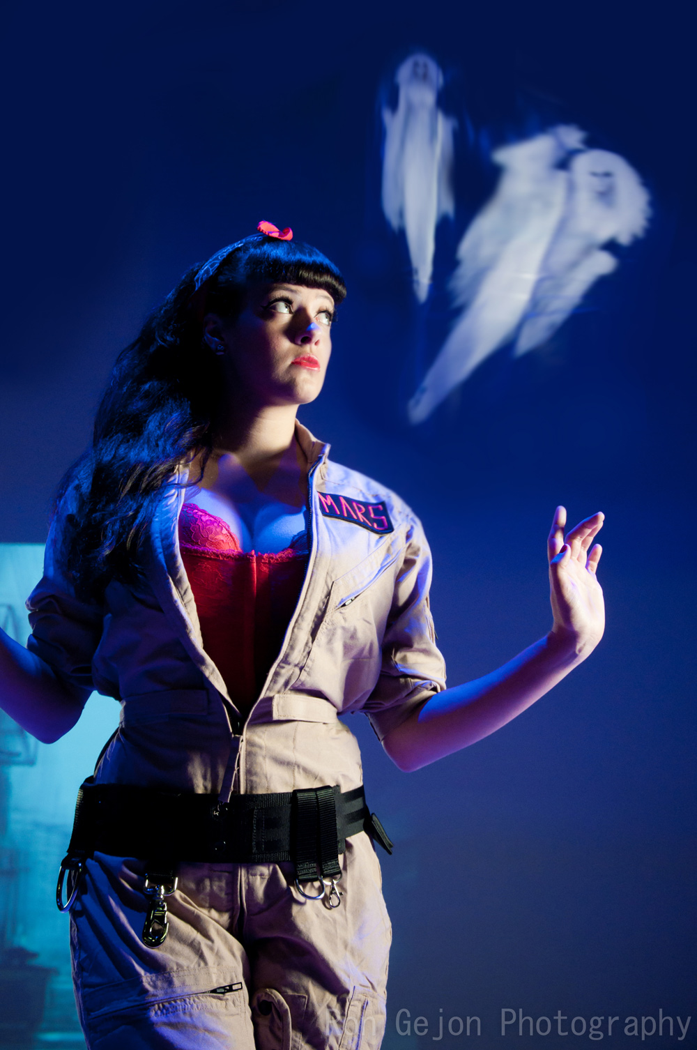 Model Luna x Mars featured in new pinup style Ghostbusters photoshoot