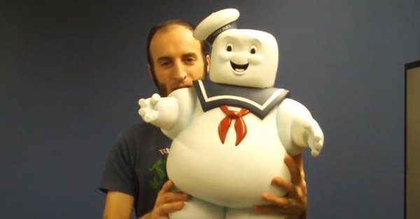 Video preview of Diamond Select Toys 24″ Stay Puft bank