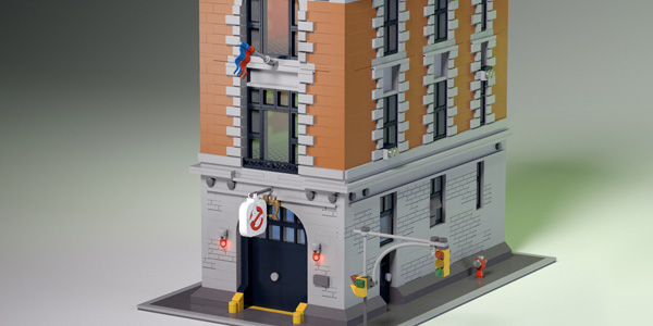 Custom Lego Ghostbusters Firehouse is a must see! (with video)