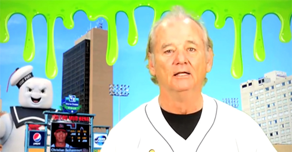 Bill Murray cuts promo for Mud Hens 'Ghostbusters Night'
