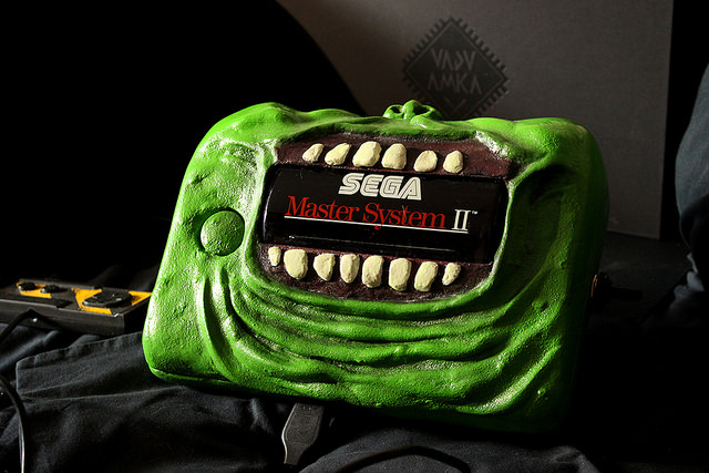 Fan Creation: Slimer themed Sega Master System