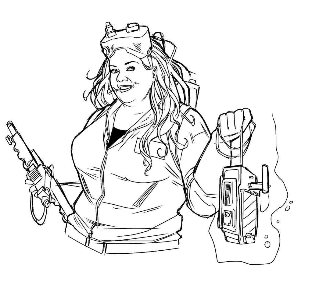Fan Art Melissa Mccarthy As A Ghostbuster