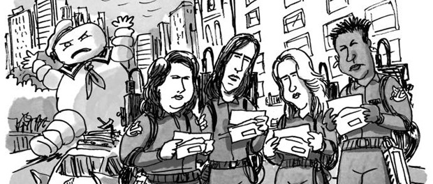 ghostbusters reboot featured in new yorker s daily cartoon