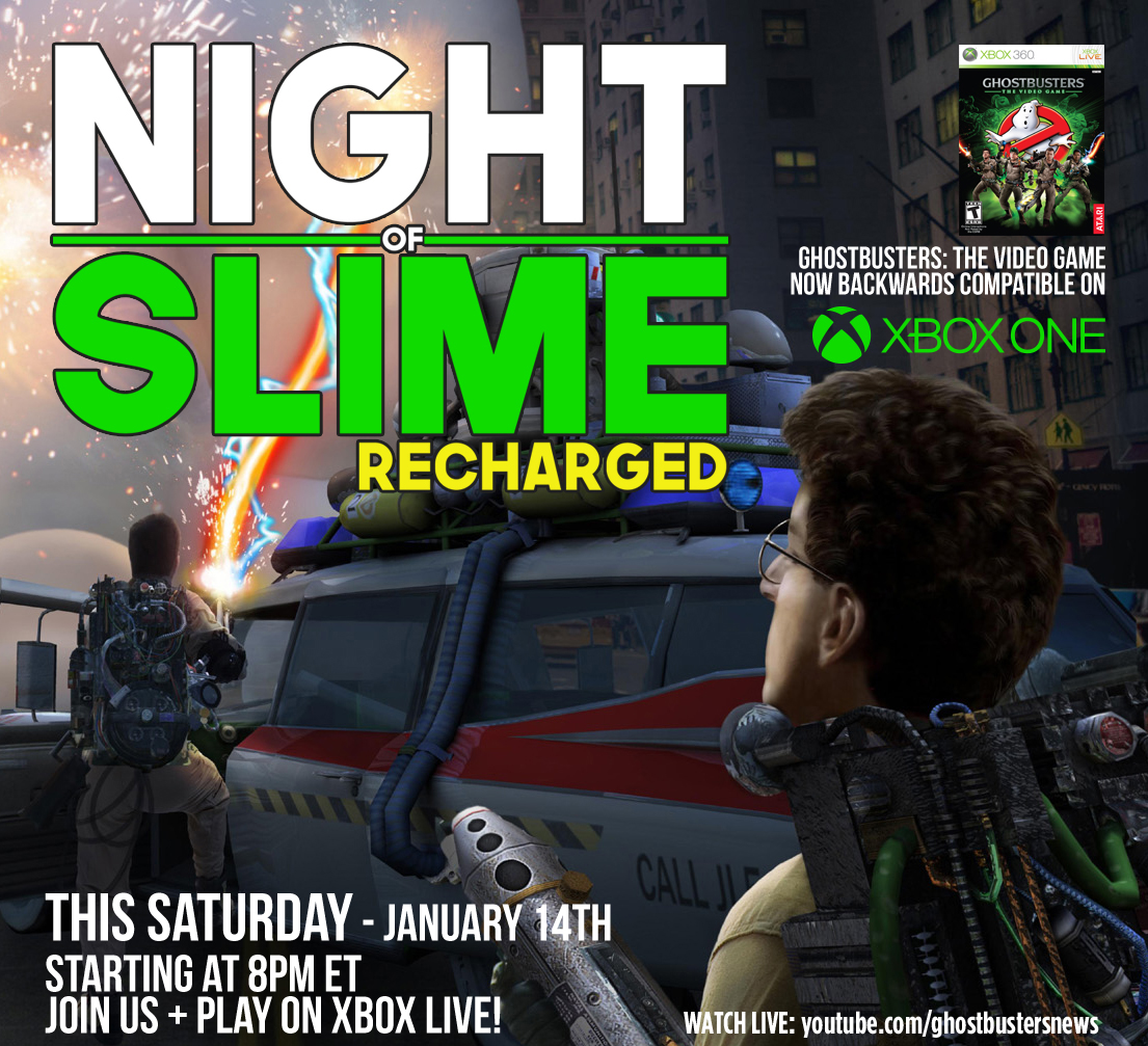 Ghostbusters game night 'Night of Slime' returns this